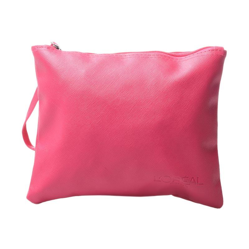 harga L'Oreal Pouch Bag - Pink Blibli.com