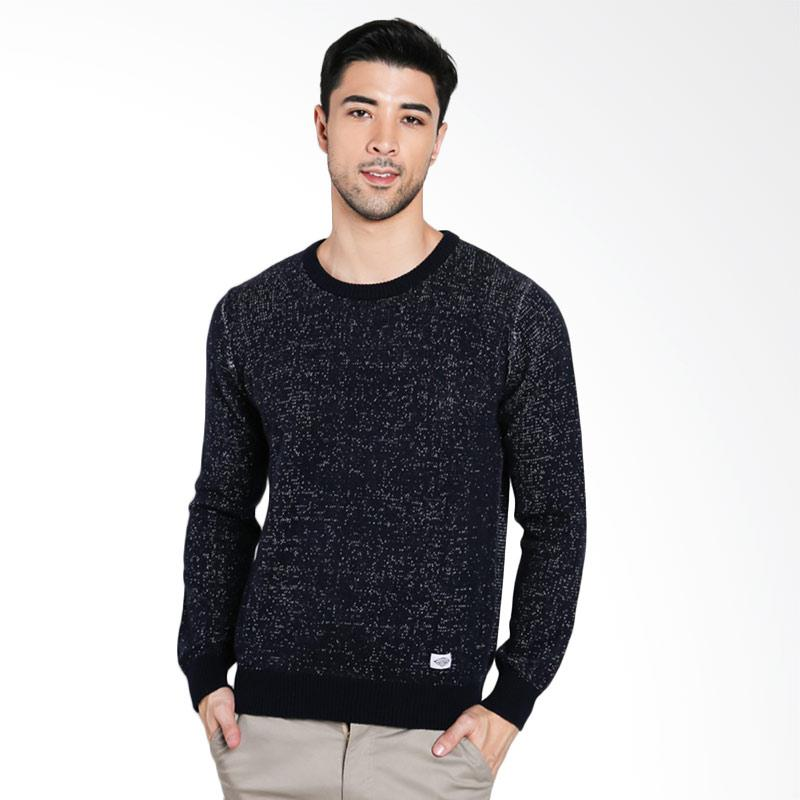 3SECOND Men Knit Sweater Pria - Blue