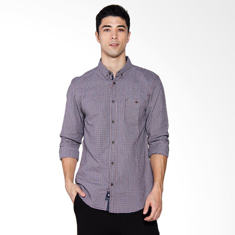 Famo Casual Shirt Kemeja Pria - Blue [514041711]