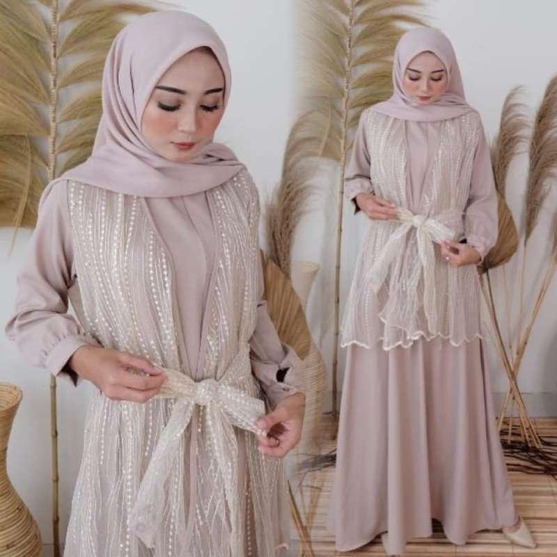 Jual Baju Gamis Fashion Wanita Muslim Dress Pesta Wanita Monica Online Januari 2021 Blibli