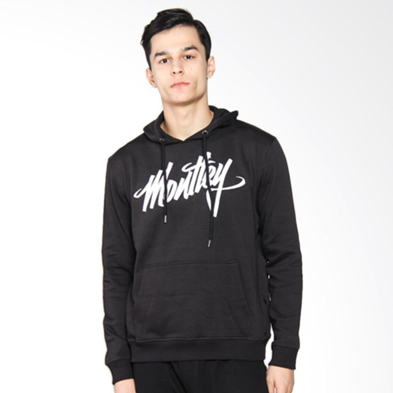 Moutley Handwriting Hooded Sweater - Black 311051715
