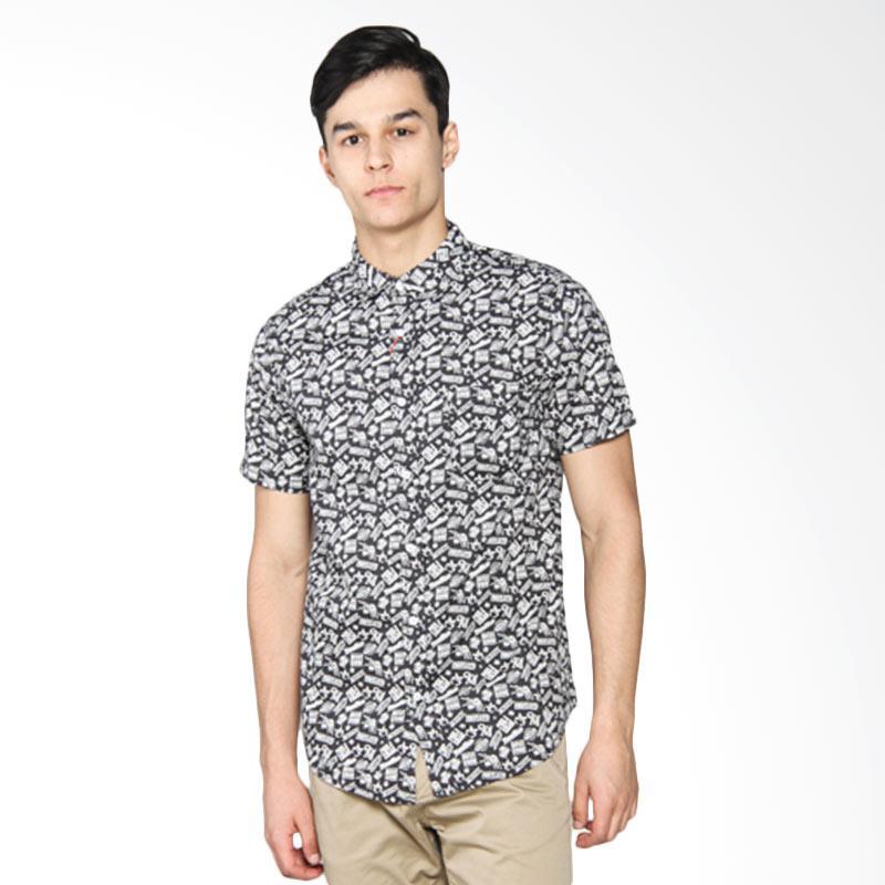 Moutley Full Printed Short Shirt - Black 302051711