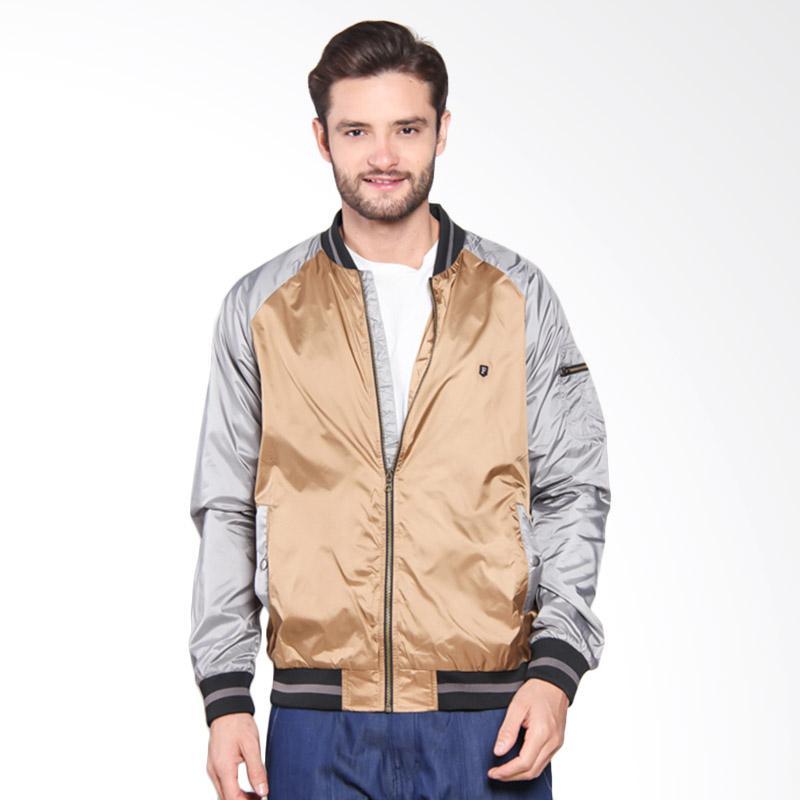 Famo Twotone Casual Jacket - Grey [536051715]