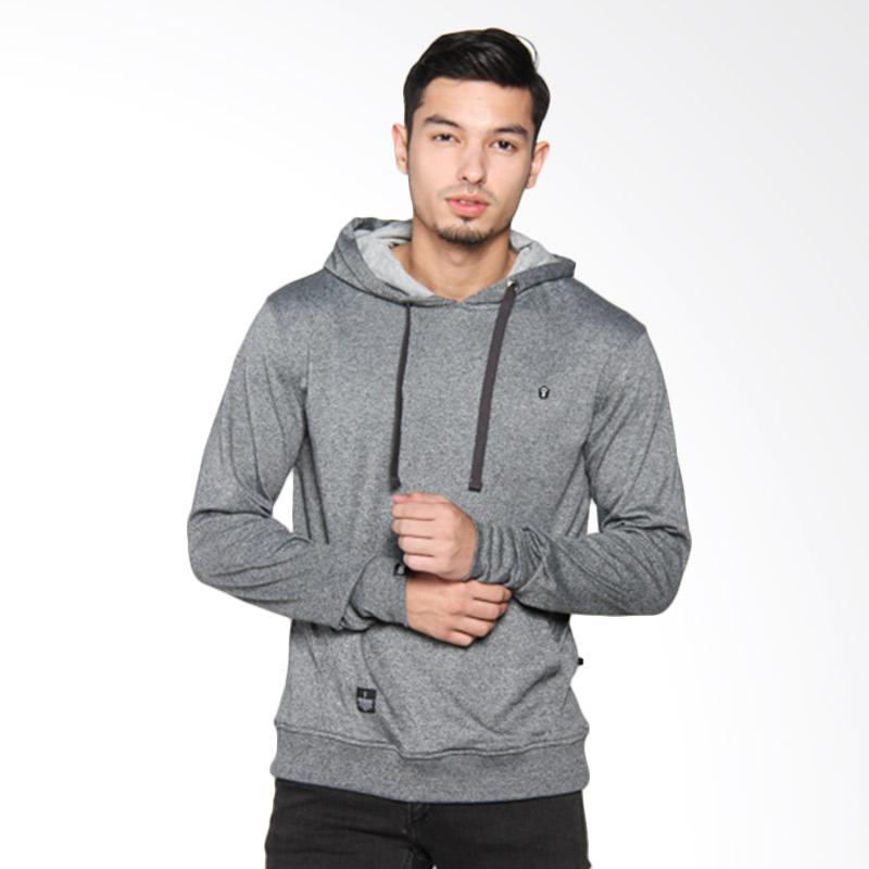 Greenlight Hooded Patch Sweater Atasan Pria - Grey 211051715