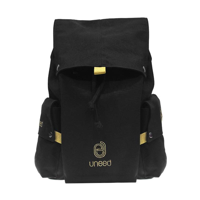harga Uneed Kanevas UB102 Backpack Tas Laptop - Black [14 Inch] Blibli.com