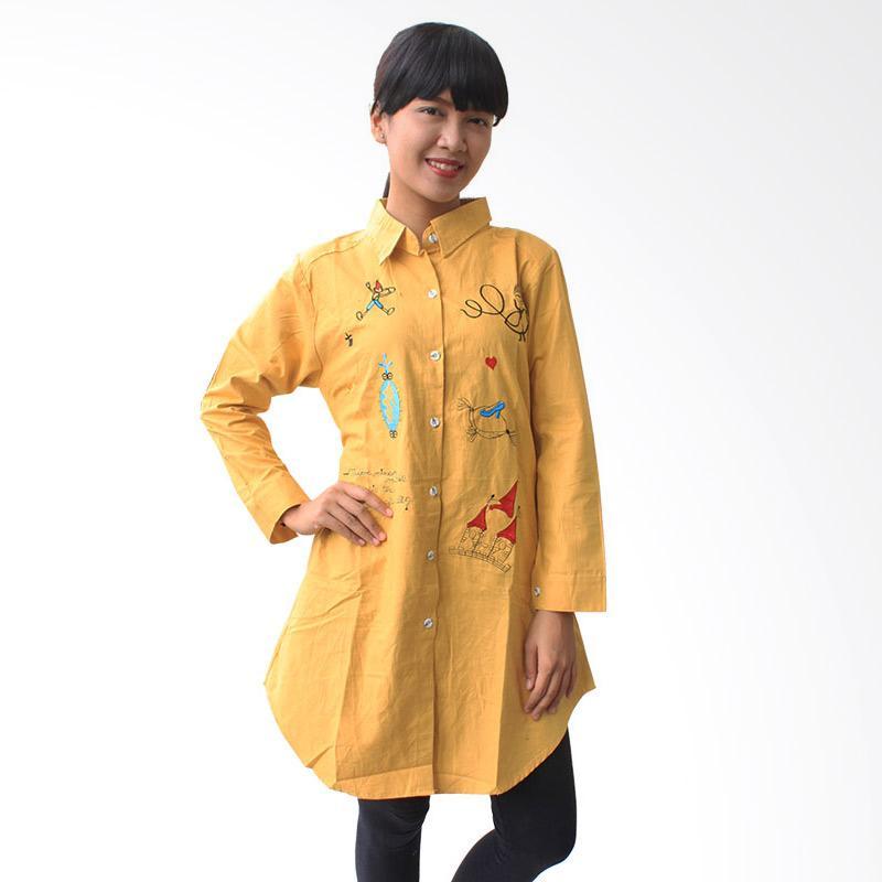 Aily K6864 Chic Simply Plain Tunik Woman - Kuning