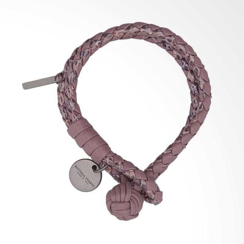 Bottega Veneta Double Row Wrap Bracelet Gelang Kulit