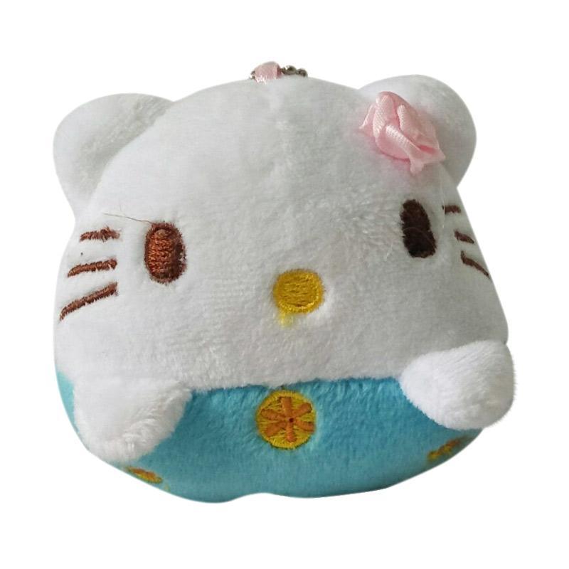 Hello Kitty Cute HK Gantungan Kunci - White Blue