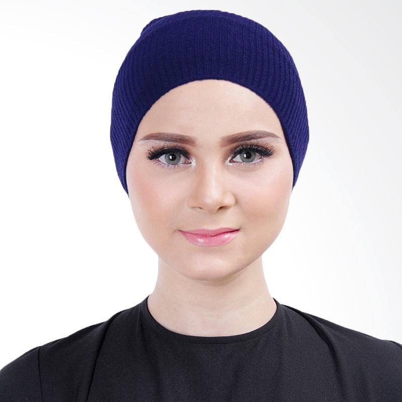 Cantik Kerudung Lizzie Inner Rajut Bandana - Royal Blue