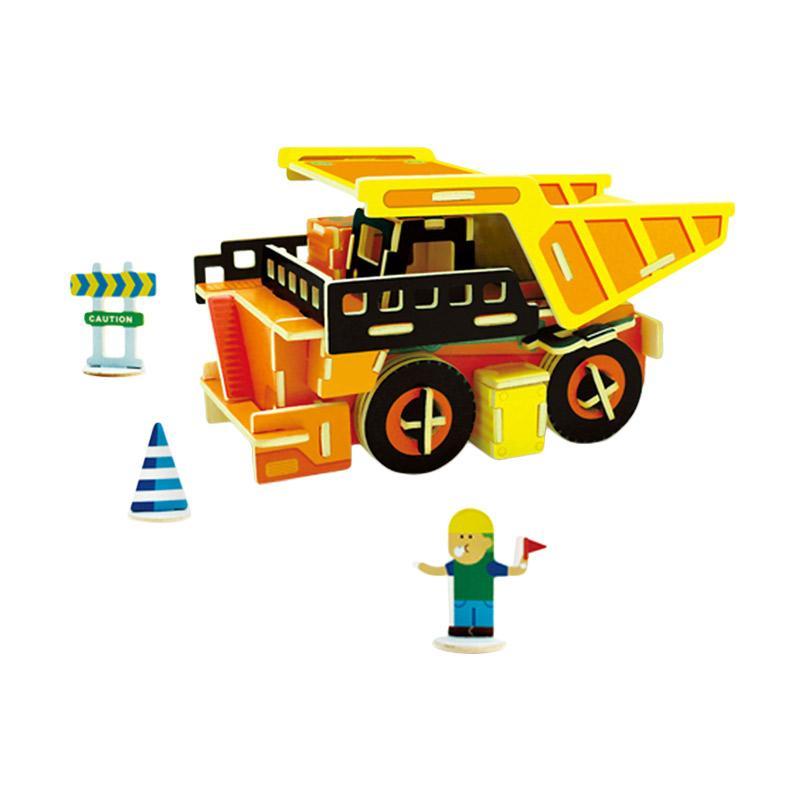 Robotime VC403 DIY 3D Color Wooden Construction Series Dump Truck Puzzle -  Multicolor