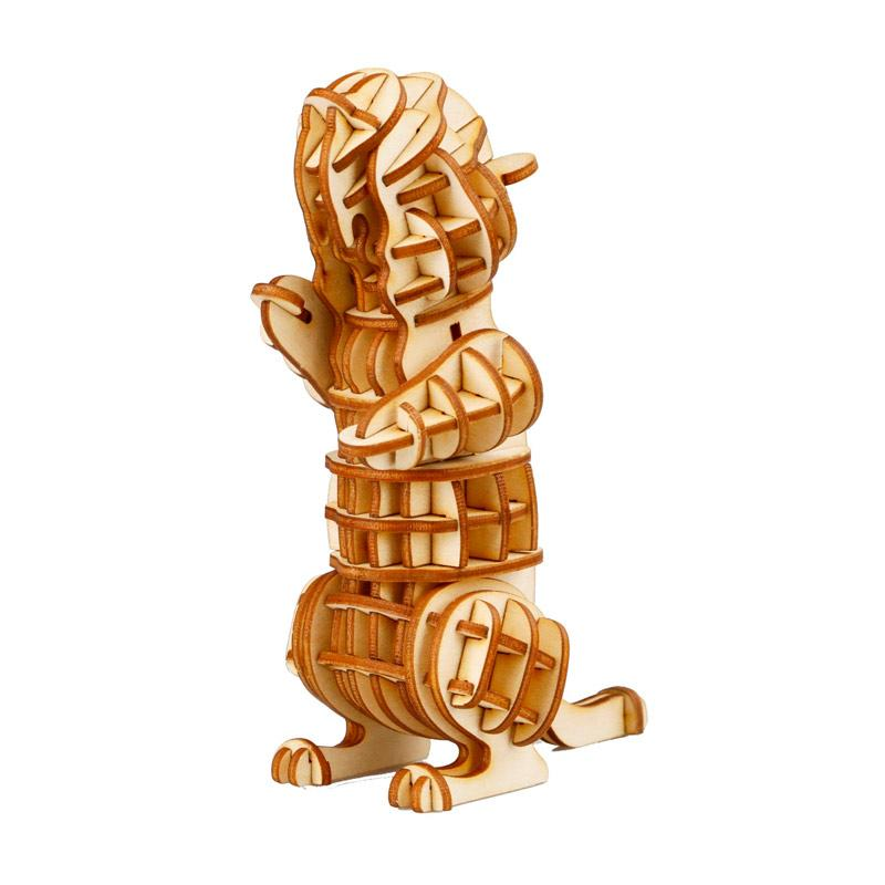 Robotime DIY Squirrel TG209 3D Laser Wooden Puzzle - Brown