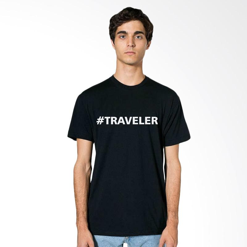 Fraw T-shirt Atasan Pria - Black 33-17