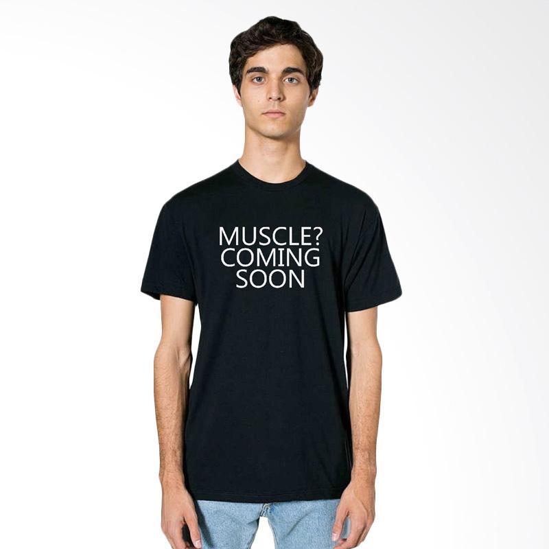 Fraw T-shirt Kaos Pria - Black 12-17