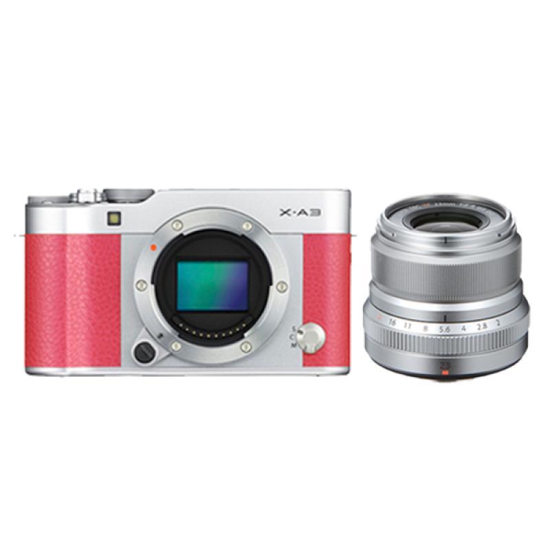 Fujifilm X-A3 BO Pink + XF 23mm f/2 Kamera Mirrorless - Silver