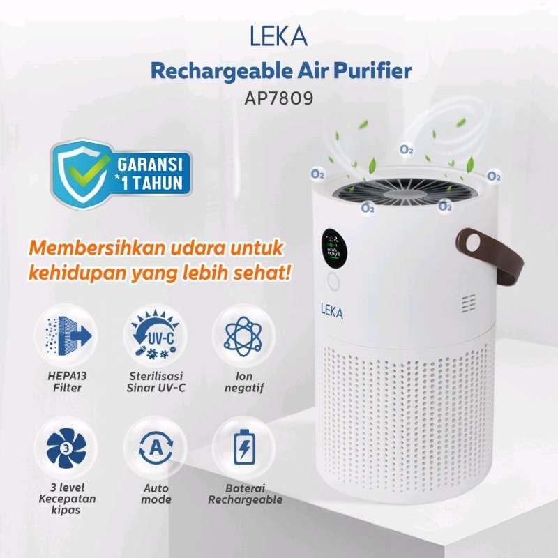 [PRE-ORDER] LEKA AP7809 Rechargeable Air Purifier - HEPA13 Filter Ion Negatif Anion Portable