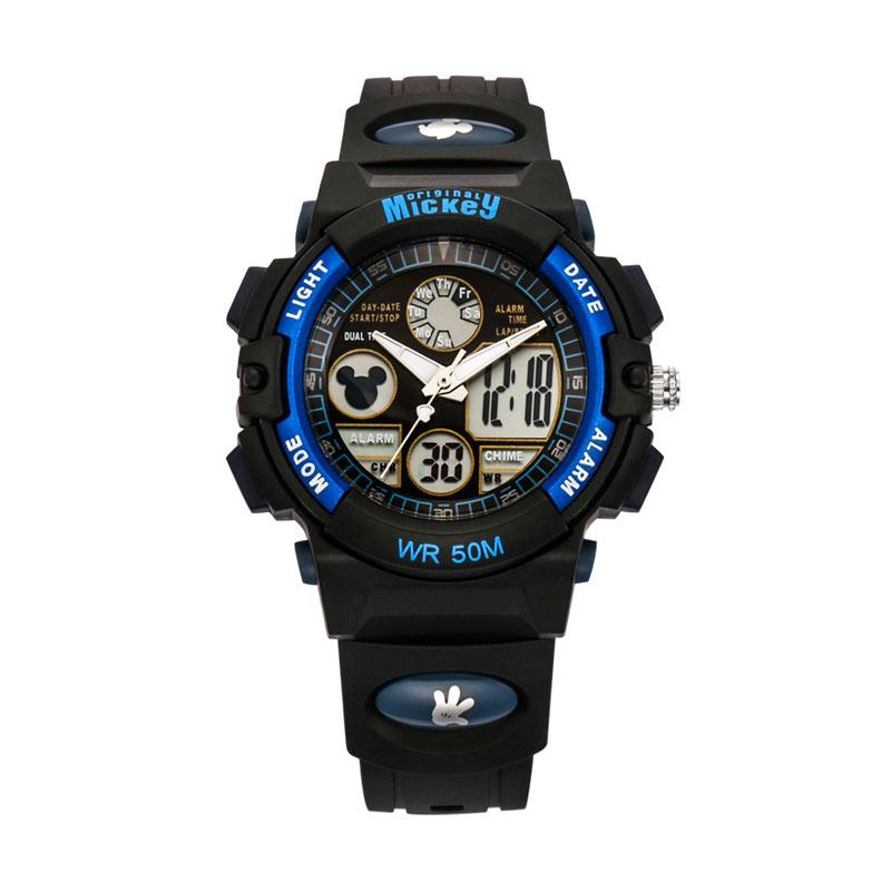 Disney MS15014-L2 Mickey Jam Tangan Sports Anak - Hitam Biru