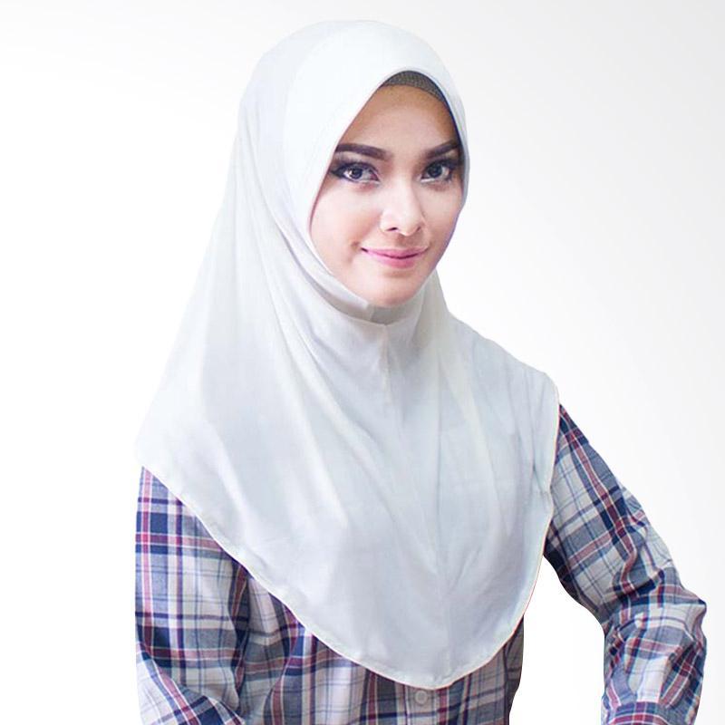 Milyarda Hijab Bergo Jersey Jilbab Instan - Putih