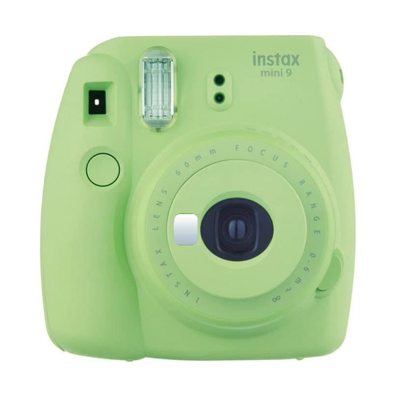 Fujifilm Instax Mini 9 Kamera Polaroid - Lime Green + Free Instax Mini Film