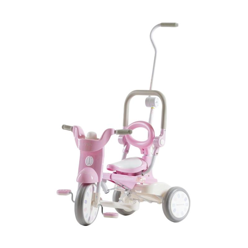 IIMO Tricycle Sepeda Lipat Roda Tiga - Macaron Pink