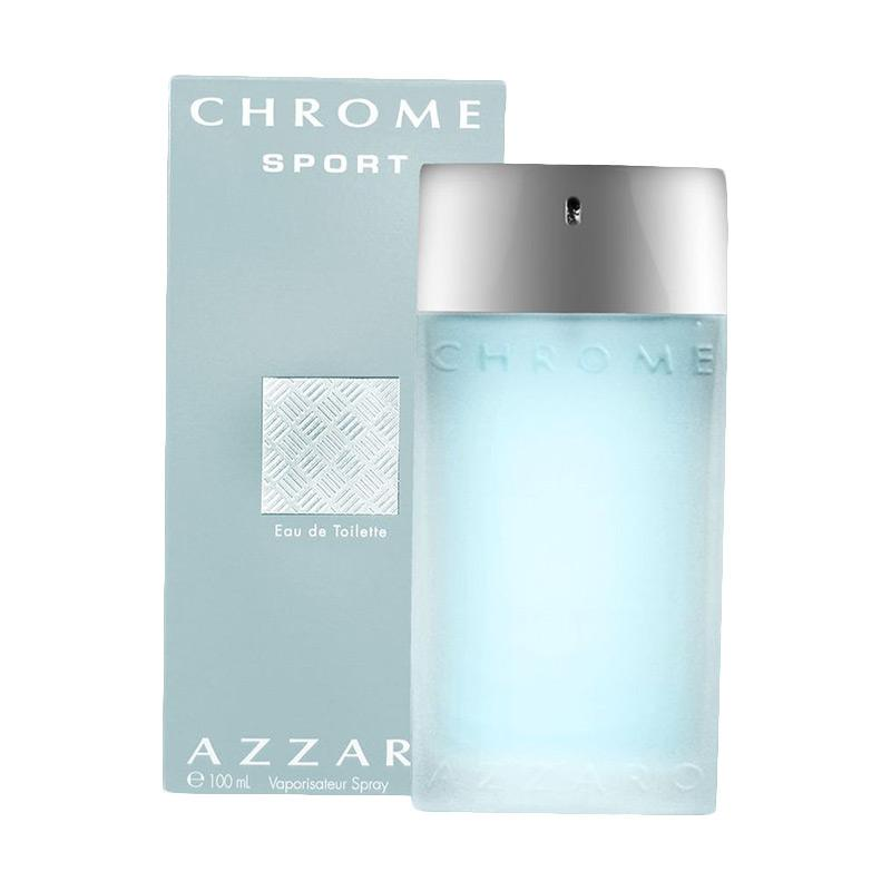 Azzaro Chrome Sport Eau de Toilette Parfum Pria [100 mL]