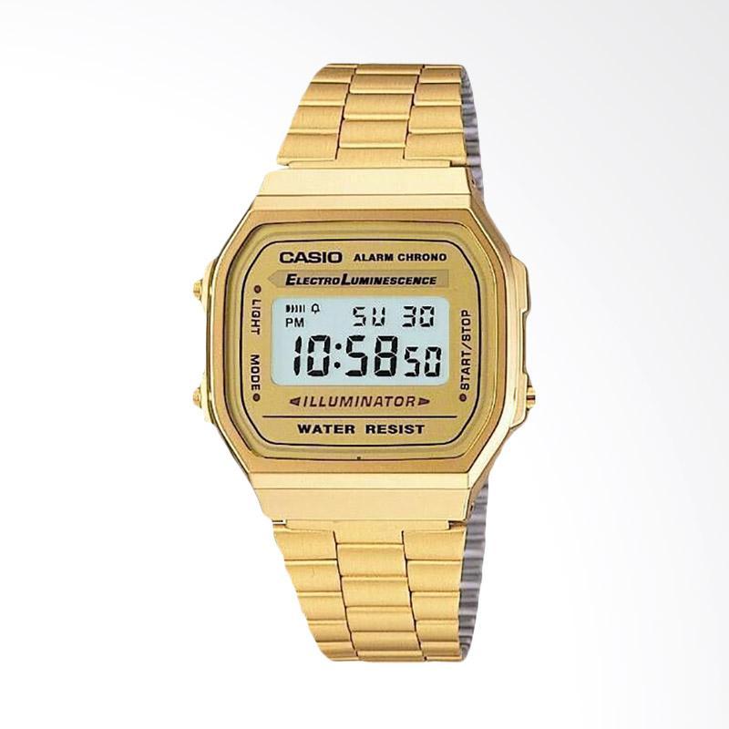 CASIO Jam Tangan Pria Gold A168WG