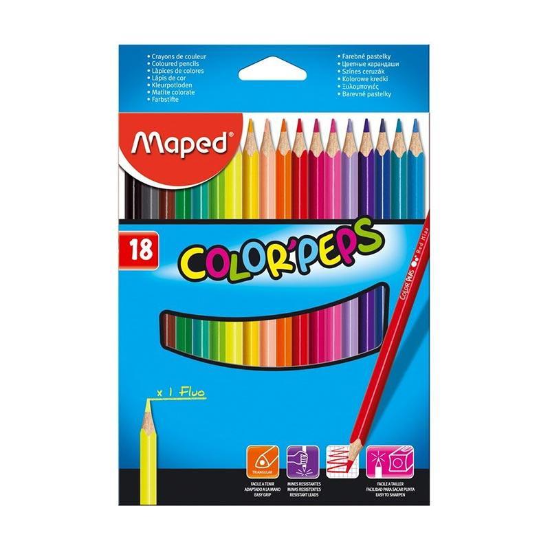Maped Color Pep's Cardboard Box Set Pensil Warna [18 pcs]