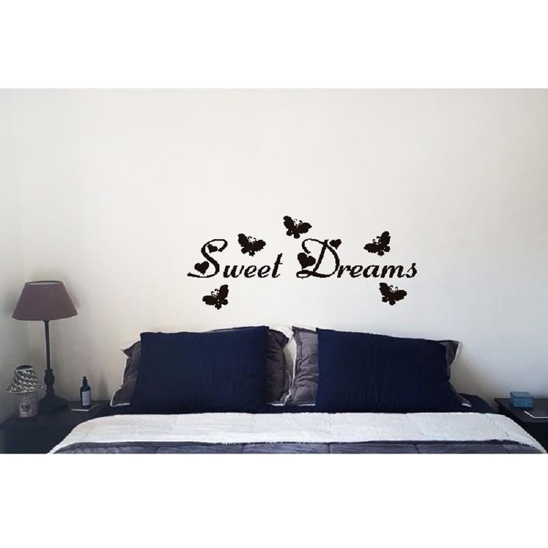 OEM Wall Stiker Sweet Dreams Cutting Sticker Dekorasi Dinding Kamar Tidur