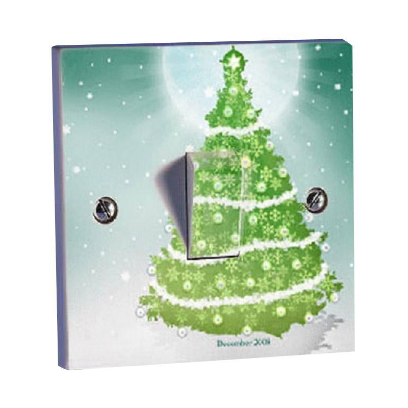 OEM Pohon Natal Christmas Tree Saklar Lampu Sticker