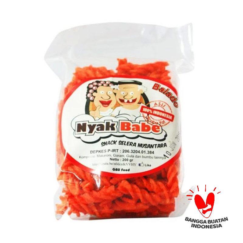 harga Nyak Babe Makaroni Rasa Balado Snack Selera Nusantara [200 gr] Blibli.com