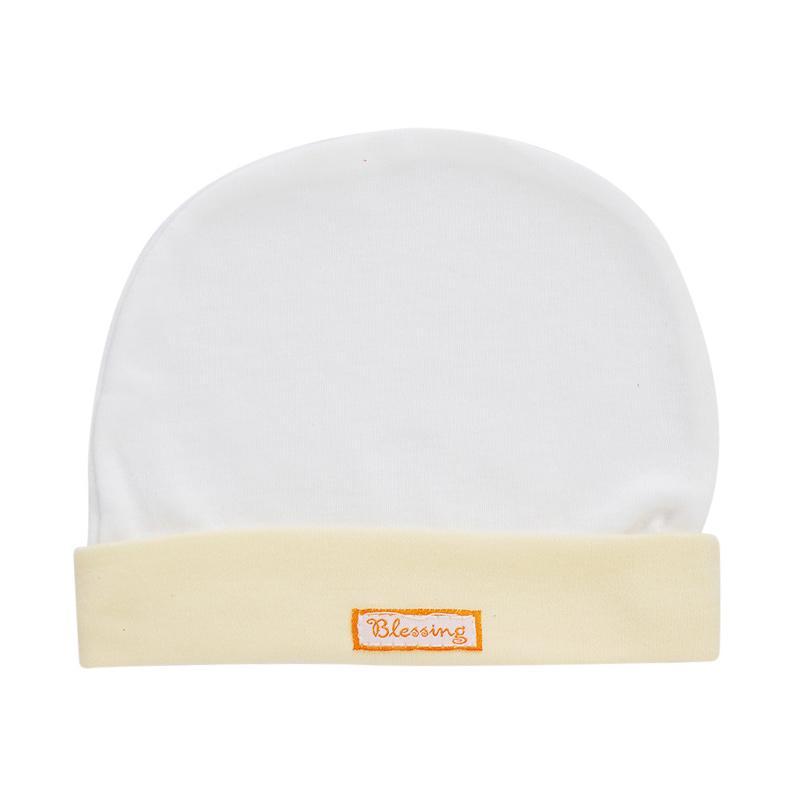 Blessing Polos Topi Bayi - Putih Kuning