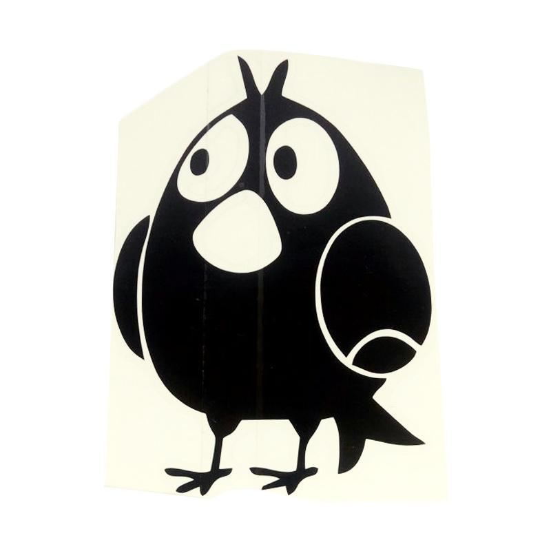 OEM Motif Angry Birds Decal Dekorasi Tombol Lampu Saklar Wall Sticker - Hitam