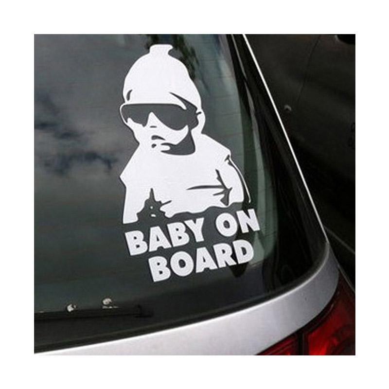 OEM Aksesoris Stiker Mobil Baby On Board Lucu Body Kaca Car Decal Sticker