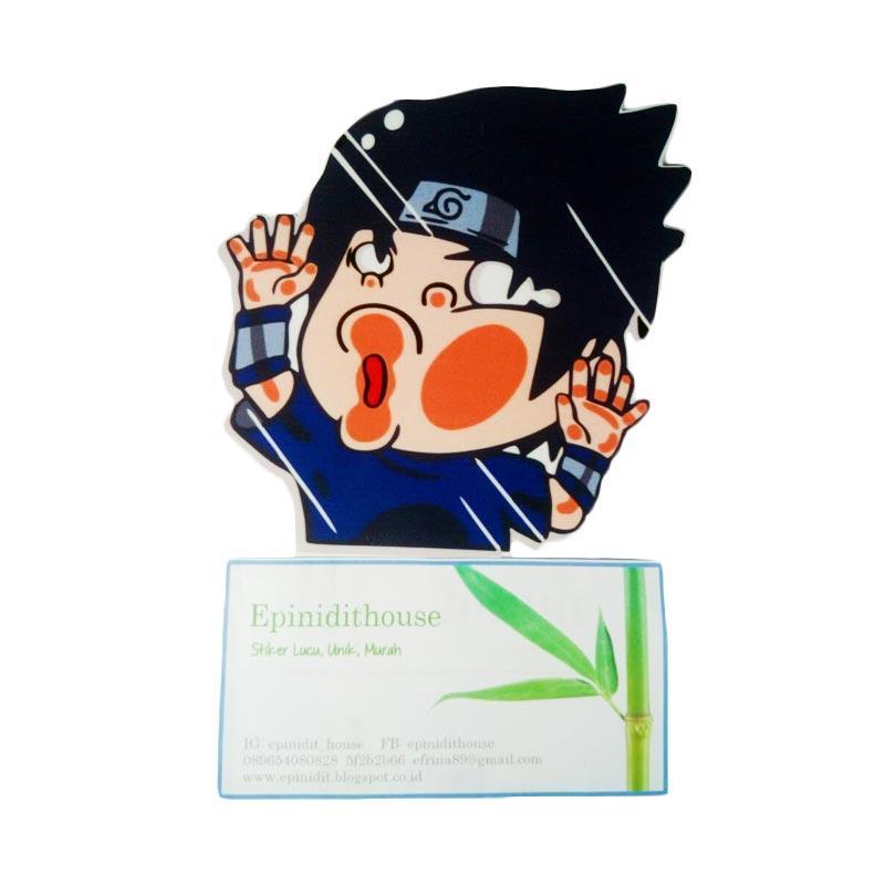 OEM Naruto Sasuke Tabrak Kaca Sticker Hit the Glass Stiker Mobil