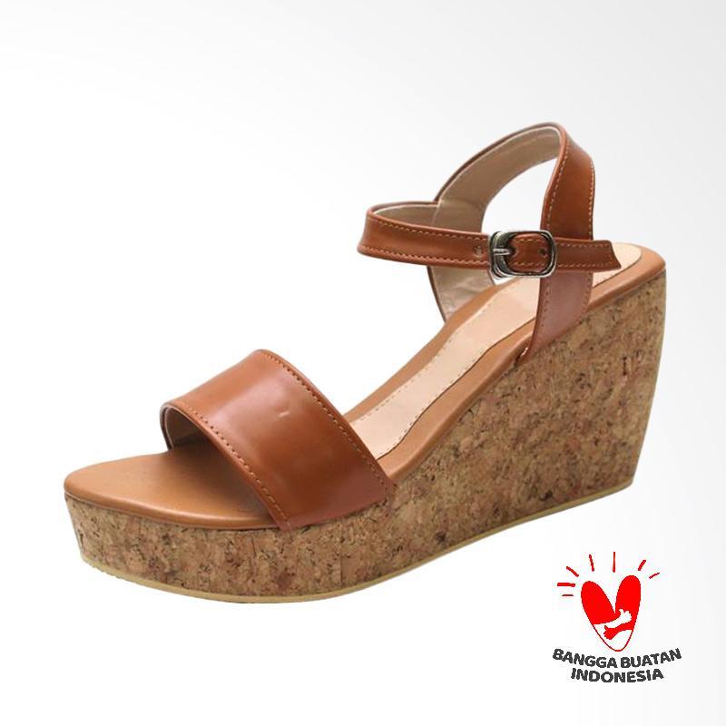 Grutty GR 82121 Sandal Wedges Wanita - Tan