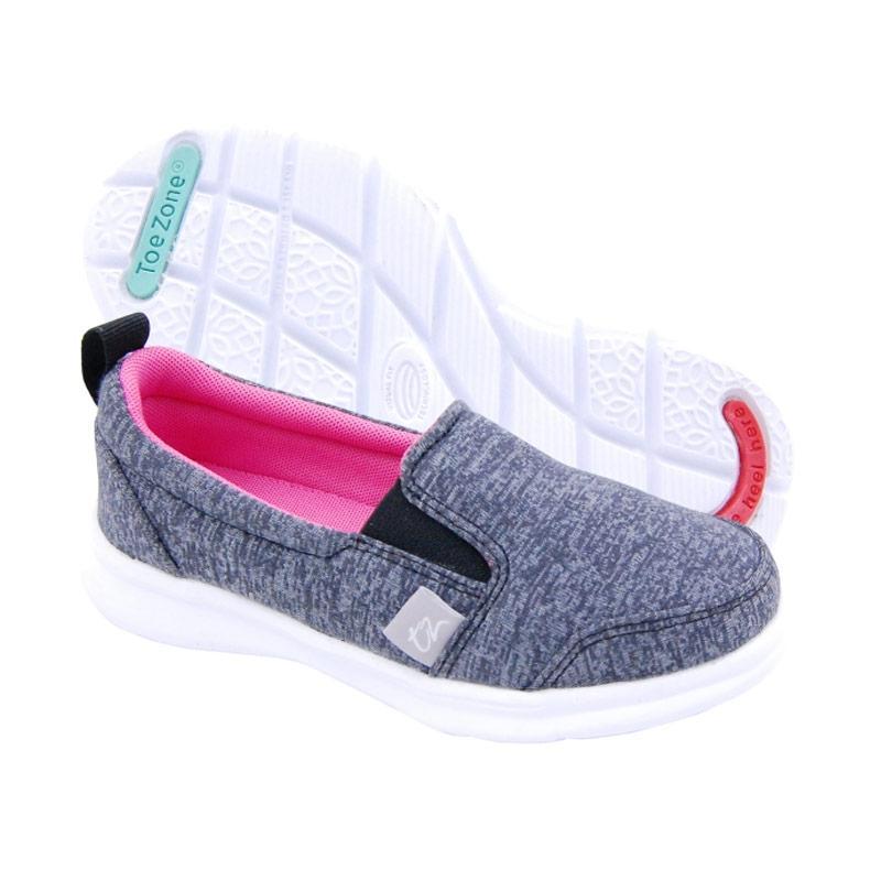Toezone Kids Napa Girl Ch Flora Sepatu Anak Perempuan - Black Pink