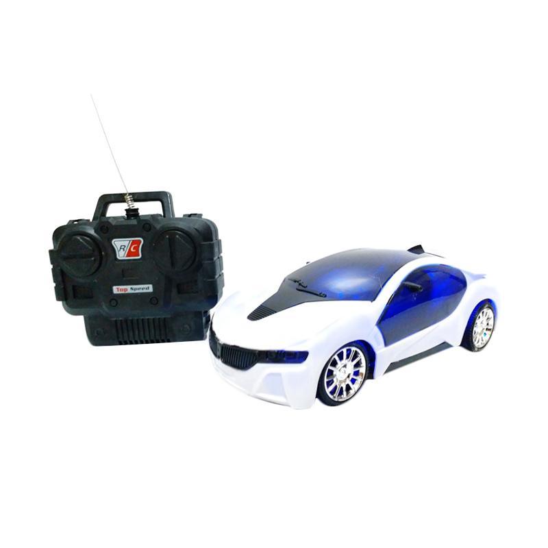 Golden Shop Fast Car Mainan Remote Control - Putih [1:20]
