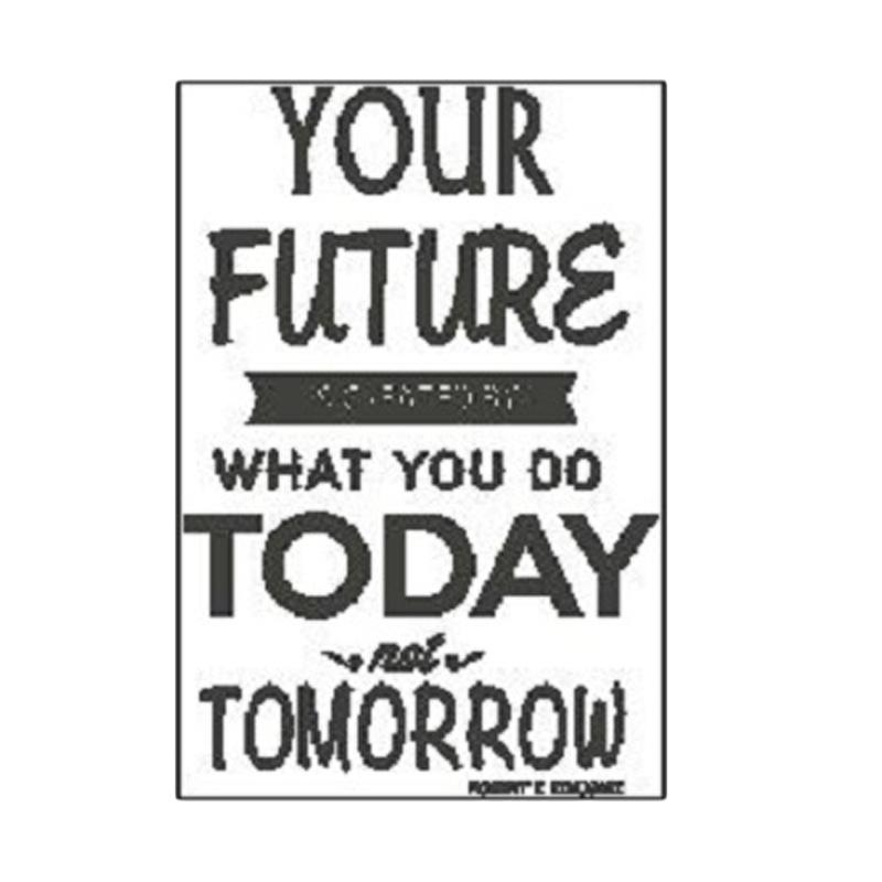 OEM Quotes Your Future Created Today Wall Sticker Dekorasi Dinding