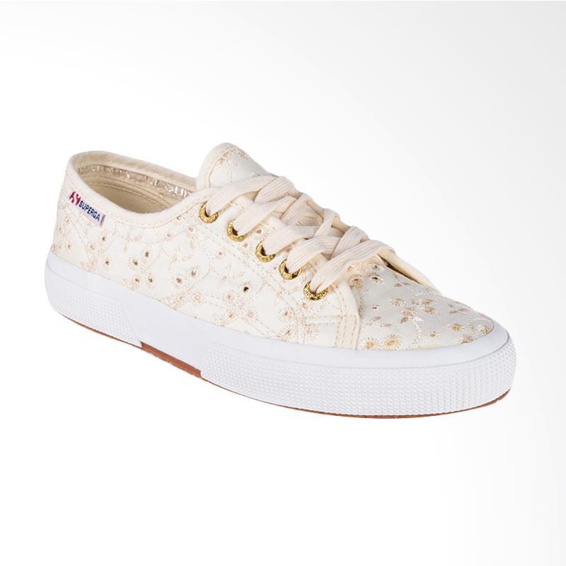 Superga 2750 S008C40 Sangallosatinw Sneaker Shoes Sepatu Wanita Ivory