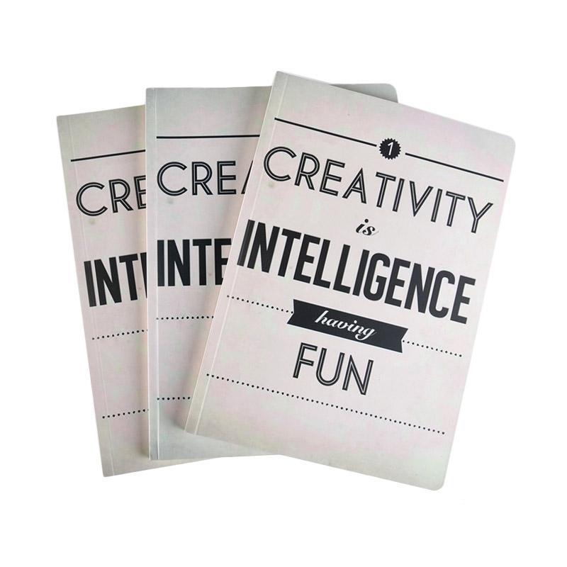 Karisma Exclusive Set Buku Tulis Creativity Is Intelligence [A5/ 80 g/ 3 pcs] - 744780