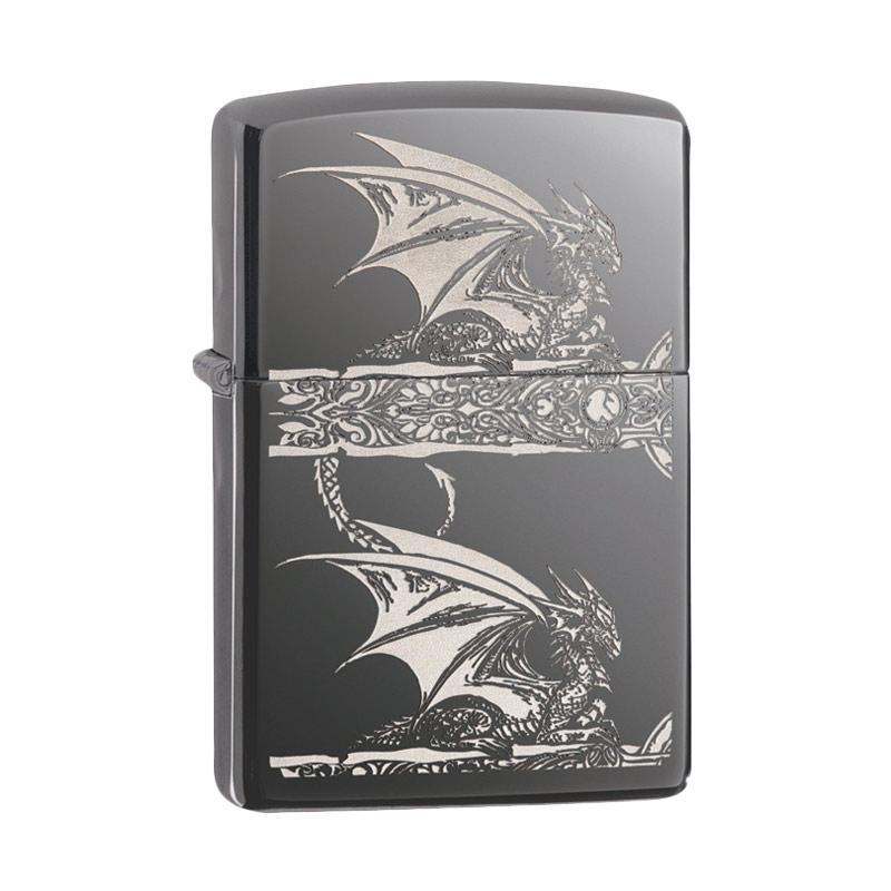 Zippo Dragon Pocket Lighter - Black Ice