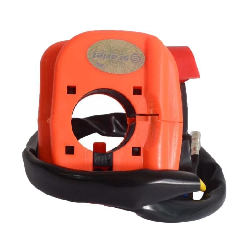 Raja Motor Aksesoris Motor Saklar Holder Kecil Starter dan Lampu On Off SCT - Orange [SKK8013-Orange]
