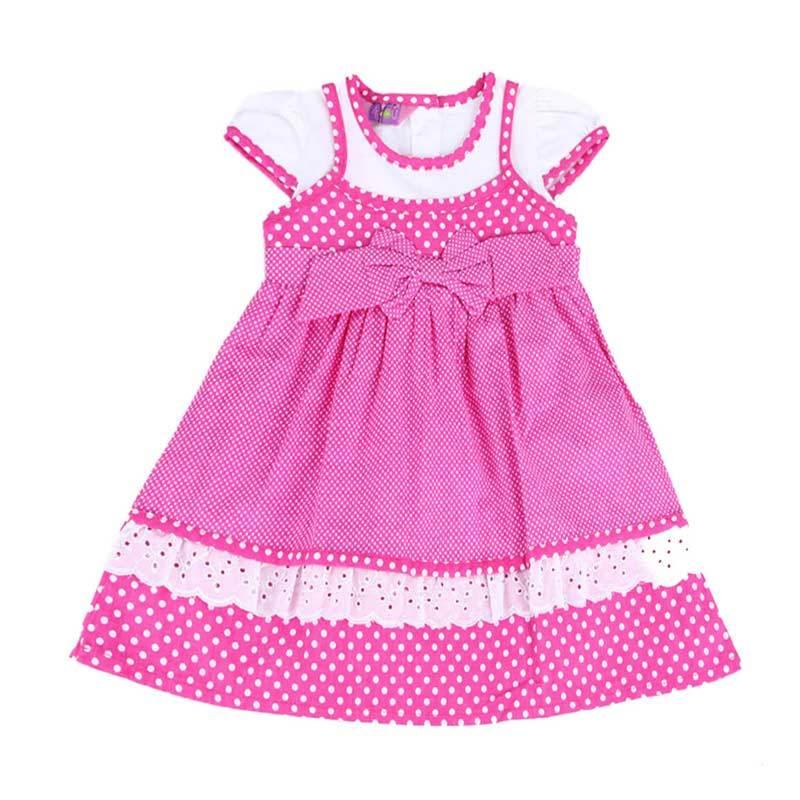 4 You Polkadot Ribbon Dress - Pink