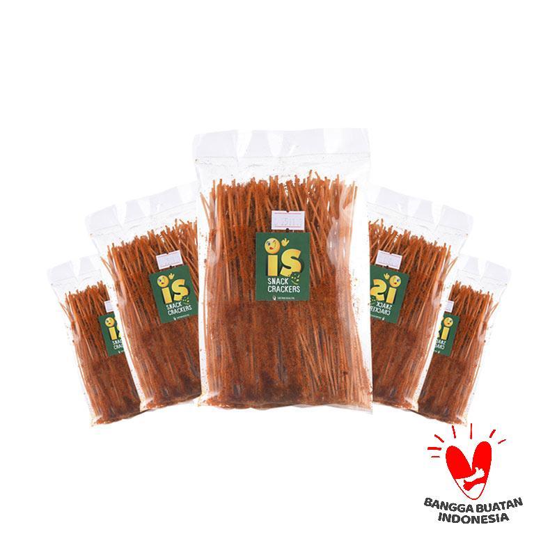 harga IS Snack Crackers Mie Lidi Pedas [Buy 4 get 1 Free] Blibli.com