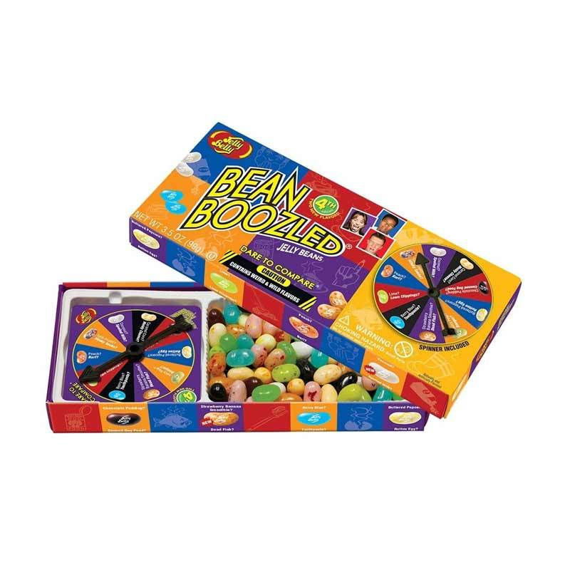 Jelly Belly Bean Boozled with Spinner Wheel Game 4th Edition 3.5 Ounce Permen