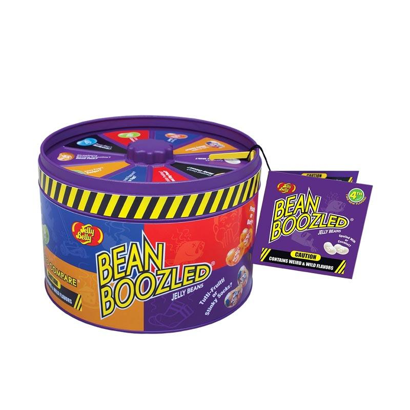 Jelly Belly 4th Edition Jelly Bean Boozled Gift Tin with Spinner Game Permen Kacang [3.36 Oz]