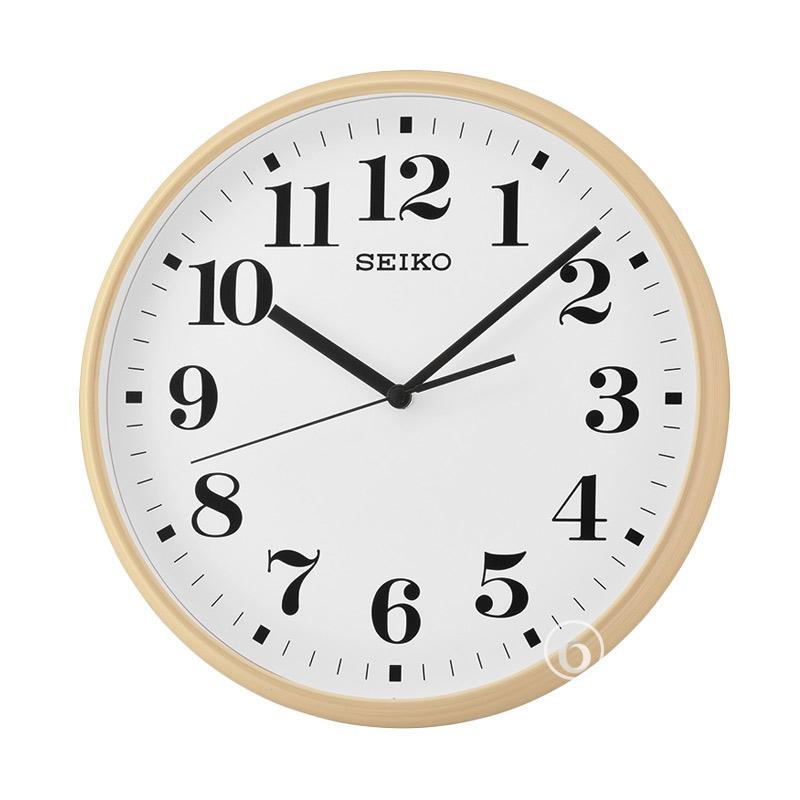 Spek Harga Seiko QXA697A Quiet Sweep Wall Clock Jam Dinding - Brown  35 cm  c1be6567da