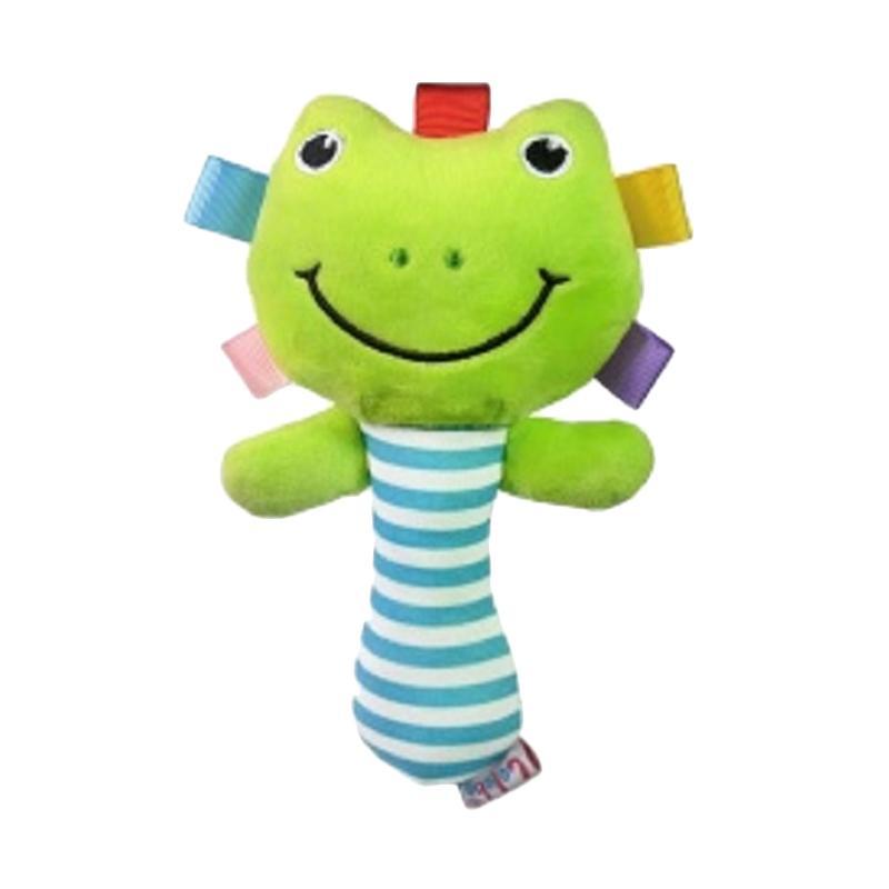 Chloebaby Shop s279 Frog Rattle Stick Mainan Edukasi Bayi