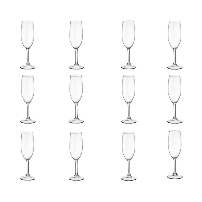 Duralex Amboise Clear Champagne Flute Gelas [170 mL/12 pcs]
