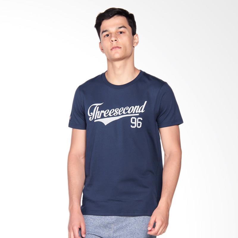 3SECOND 3008 T-Shirt Pria - Blue