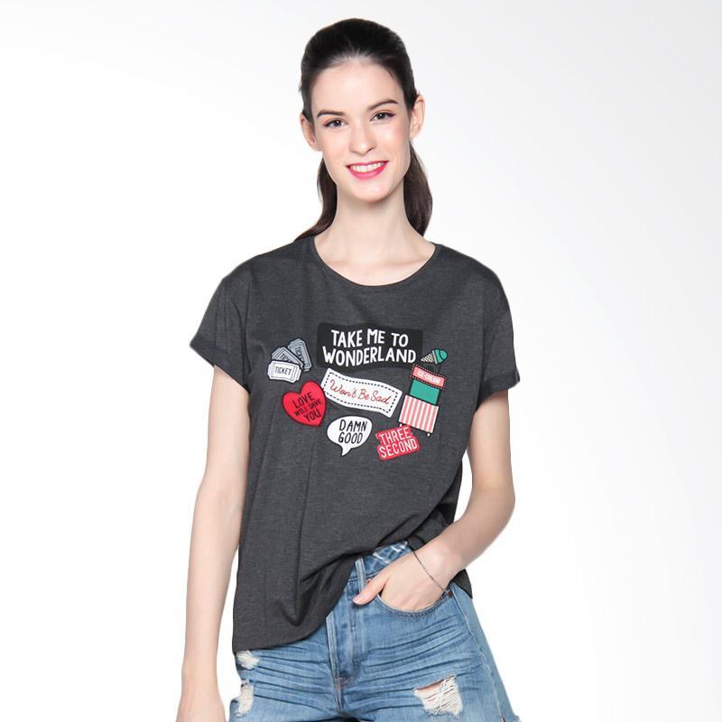 3 Second Ladies 3008 181081722 T-Shirt Atasan Wanita - Grey